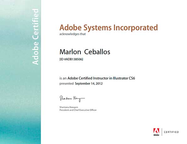 Adobe Certified Instructor - Illustrator CS6