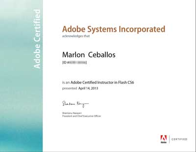 Adobe Certified Instructor - Flash CS5 / Marlon Ceballos